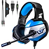 QcoQce Gaming Headset -2018 Neuesten Xbox One Headset pc 3.5mm Stereo mit Kabel Headset mit Mikrofon LED Light Gaming Kopfhörer für PS4,Xbox One, PC, Laptops, Mac, Tablet und Smartphone