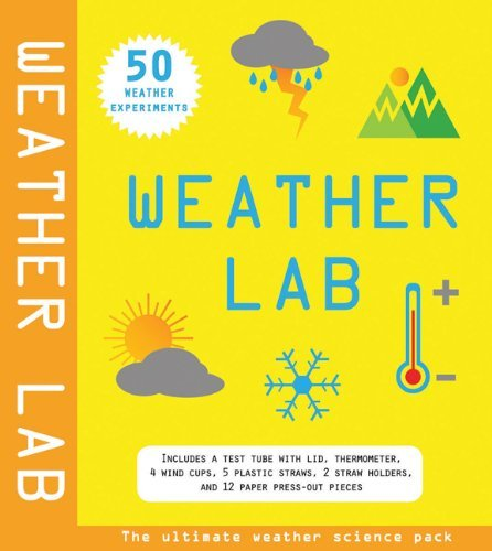 Weather Lab: 50 Weather Experiments [With Test Tube with Lid, Thermometer, 4 Wind Cups, Etc.] (Science Lab (Silver Dolphin)) by Lisa Regan (13-Mar-2012) Hardcover (Dolphin Tube)