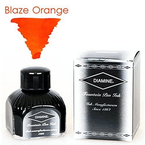 Diamine Refills Blaze Orange Bottled Ink 80mL - DM-7035 by Diamine -