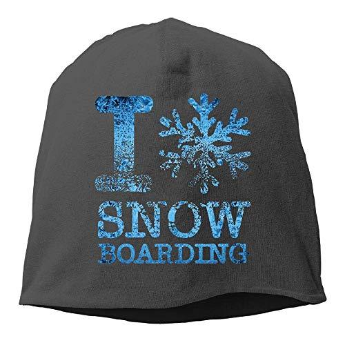 8f4edec2a3d WYICPLO I Love Snowboarding Winter Beanie Skull Cap Warm Knit Ski Slouchy  Hat Durable