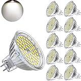 Yafido MR16 GU 5.3 Lampadine LED 12V 5W Equivalente a 35W Lampada Alogena GU5.3 Faretti Luce Bianco Neutro 4000K 420LM Non-Dimmerabile Ø50 x 48 mm (Confezione da 10)