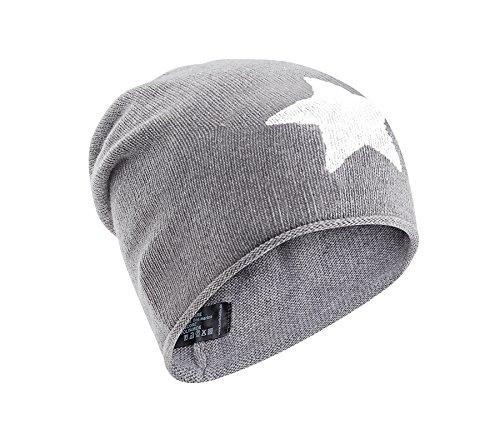 slouchbeanie Cappello da donna Zwillingsherz  Silver - Hellgrau/Weiß Taglia unica