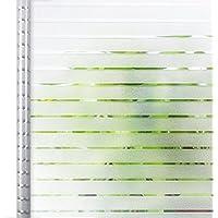 Homein® Vinilo Ventana Cristal Electricida Vinilos Deslustrado Estática Película Autoadhesivo Sin Cola Lámina Banda Blanca Facíl Desmontar y Reutilizar de Baño Cocina Oficina Anti UV 44.5 * 150cm