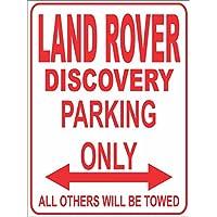 Land Rover Range Rover Sport Parking Only Parkplatzschild 32x24 cm schwarz//Silber Alu-Dibond Folienbeschriftung Garage//Carport INDIGOS UG