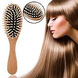 Haarmassage Comb Pinsel Naturhölzer Bambus Nadle Black Rubber Air Bag Massage Comb Hitzeserber Anti-Static Comb