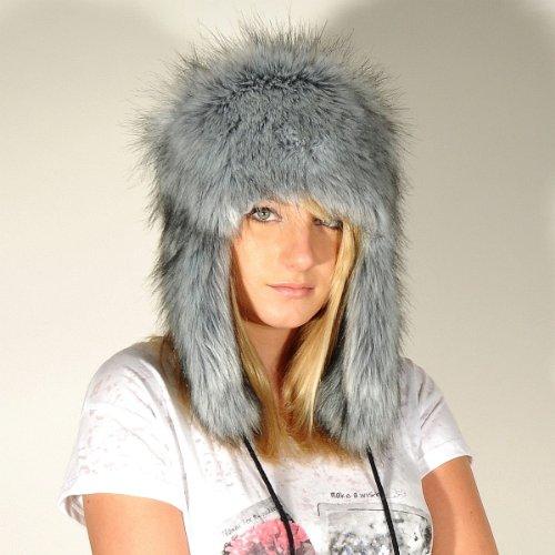 Futrzane Aviator Faux Fur Hat Cossack Russian Style Trapper Winter
