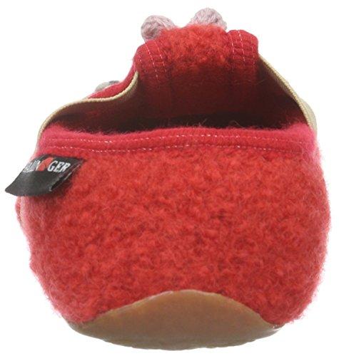 Haflinger Mushroom, Chaussons fille Rouge - Rot (Rubin 11)