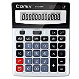 Kkmoon Comix c-1232m standard funzione calcolatrice da tavolo 12cifre solare e batteria Dual Power per scuola ufficio casa