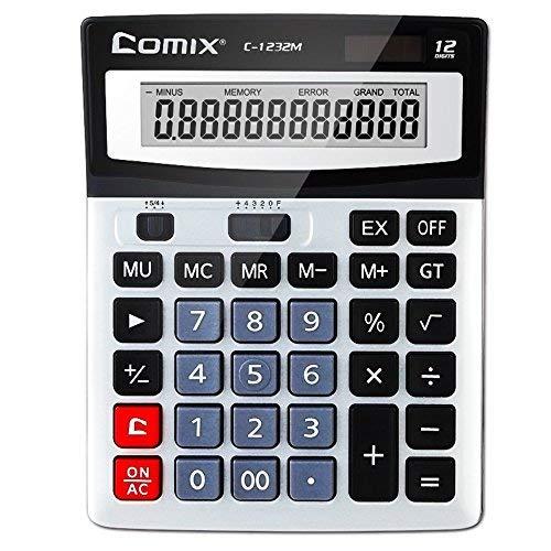 kkmoon COMIX c-1232m Standard Funktion Desktop Taschenrechner 12-stellig Solar- und Batteriebetrieb Dual Power für Schule Büro Home