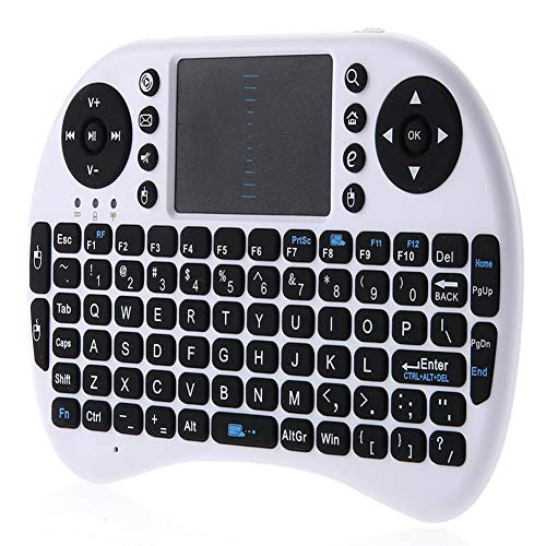 2.4 G Mini-Tastatur, kabellos, i8, mit Touchpad, für PC, iPad, Google Andriod Box, TV, wiederaufladbarer Li-Ion-Akku und Multimedia-Fernbedienung
