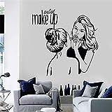 stickers muraux pour b Maquilleuse, artiste, cosmétique, salon de beauté, boutique pour salon de coiffure, salon de coiffure