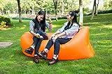 Faules Sofa schnelles aufblasbares Air-Lounge-Schlaf-Luft-Schlafsofa Laybag Lazy Bag Beach für Outdoor Camping (Orange)