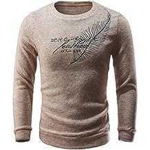 Suéter hombre, Amlaiworld Hombres otoño invierno cartas casuales suéter tejer Tops blusa