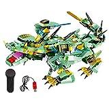 Dinosaur Toy, Macchina Kung Fu Un Drago Blocchi (Qinglong) Costruzione di Giocattoli Istruzione Ingegneria Edile Il Giocattolo di Learning Kit Giocattoli Creativi