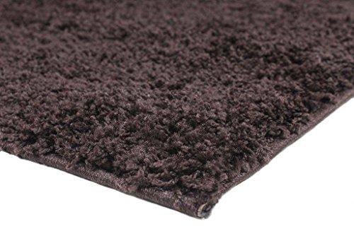 Lanudo largo Diseñador alfombra de pelo Samson chocolate Alfombra 200x290 cm de color marrón oscuro