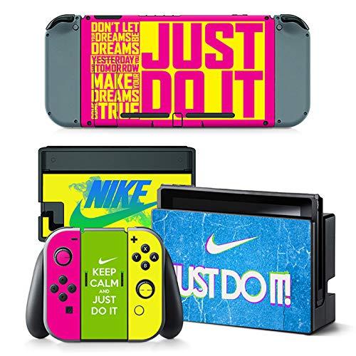 Schutzfolie für Nintendo Switch, Vinyl, inkl. 2 Displayschutzfolien (Konsole & Joy-Con & Dock & Grip) I