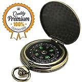 LongChuan Kompass Premium Portable Taschenuhr Flip-Open Kompass Camping Wandern Kompass Outdoor Navigation Tools
