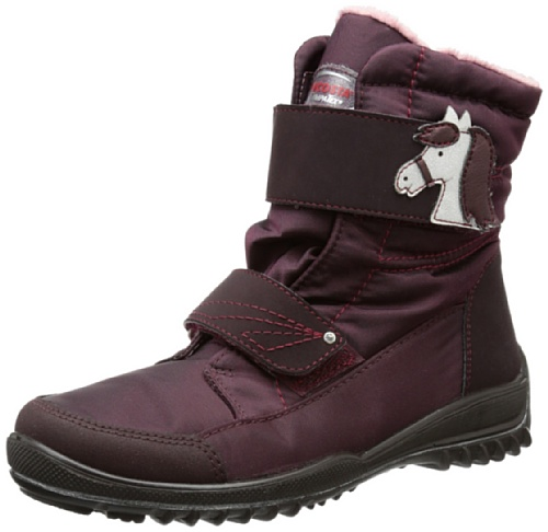 Ricosta Garei(m), Bottes de ski fille Rouge - Rot (brombeer 380)