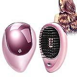 Mini massage portatif par vibration ionique avec brosse à cheveux ionique pour cheveux brillants sans frisottis(rose)