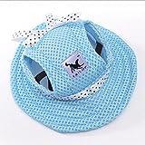 WINNERUS 1PC Chic Haustier Hund Hut Mesh Cap Sun Porous Hut mit Ohrlöcher für kleine Hunde (S, blau)