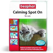 "Beaphar ""Calming Spot On"" - pipetas tranquilizantes para gatos por problemas de conducta, paquete para 3 semanas"