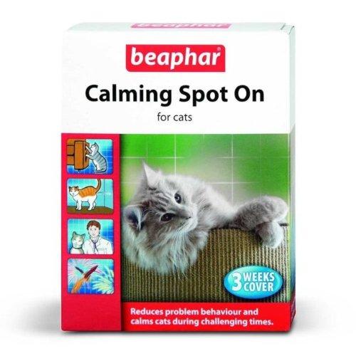 Beaphar Calming Spot On beruhigung Medio Para Gatos, paquete de 3de