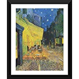 Tallenge Old Masters Collection - The Cafe Terrace On The Place Du Forum By Vincent Van Gogh - Premium Quality Ready To Hang Framed Poster (12 Inch X 17 Inch)