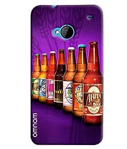 Omnam Beer Bottles Printed Designer Back Cover Case For HTC One M7