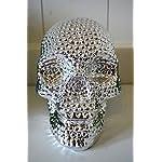 Spardose Totenkopf Schädel Skull Chrom-Optik Keramik Spartopf Trinkgeld Kasse Kaffeekasse Tischdeko Halloween…