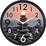 Mishty Designer Round Wall Clock with Glass for Home/Kitchen/Living Room/Bedroom