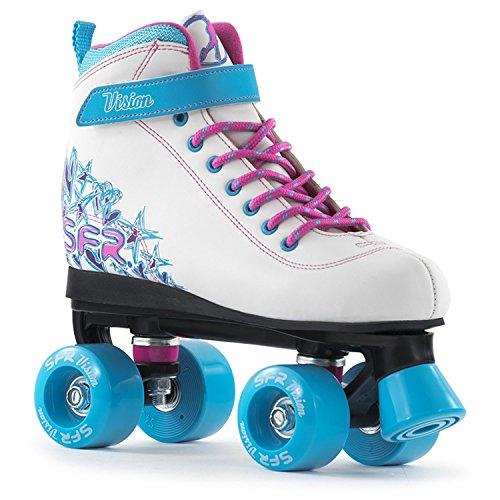 SFR Vision II Rollschuhe Disco Roller Kinder weiß-blau-pink