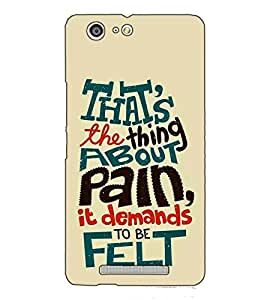 Fuson Designer Back Case Cover for Gionee Marathon M5 (That's The Thing About Pain)