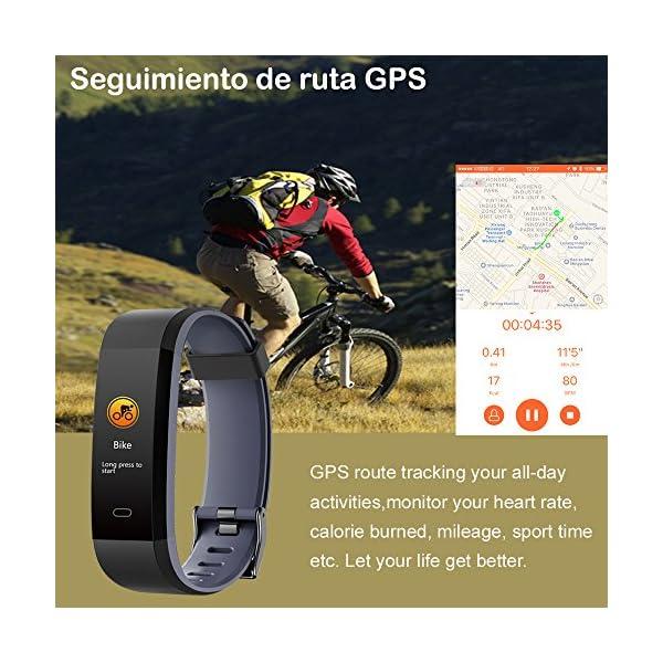 Willful Pulsera Actividad, Pulsera Actividad Inteligente Pantalla Color Reloj con Pulsómetro Impermeable IP68 Podómetro… 7