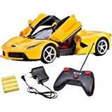 """KIDSZONE """"Ferrari Remote Control Car, Rechargeable, Opening Doors, Frustration Free Packaging, Red"""" ABS Plastic Remote Controlled Ferrari Like Model Sports Car with Openable Doors"""