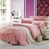 Unbekannt WLL Modernen Minimalistischen Stil Spitze 100% Baumwolle Farbe Bettbezug - G220*240 cm (87 x 94 Zoll)