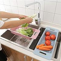 BIlinl Ajustable Fregadero de la Cocina Escurridor de Platos Rack de Secado Cesta de la Cesta