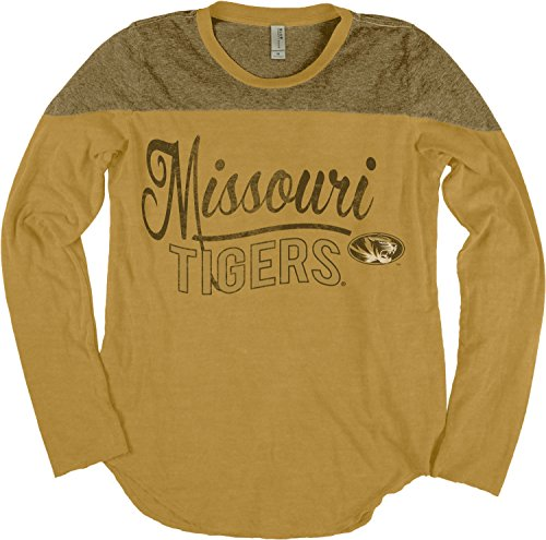Blue 84 NCAA Missouri Tigers NCAA Damen-T-Shirt, langärmelig, Gr. S, Senf -