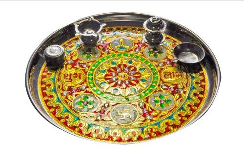 festa-della-mamma-idea-regalo-diwali-pooja-thali-grande-lavoro-artistico-con-il-bastoncino-di-incens