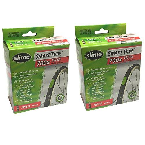 Slime Smart Tube selbst Heilung 700C x 19-25Presta Schläuche (2Stück)