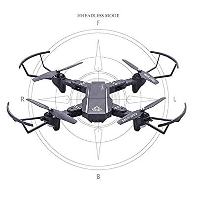 JXWANG Collapsible Rc Drone 4Ch 6-Axis Headless Mode 3D Flip And Headless Mode Easy To Fly Beginner Remote Control One-Click Return Helicopter