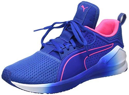 Puma Damen Fierce Lace Wn's Hallenschuhe Blau (true blue-knockout pink 01)