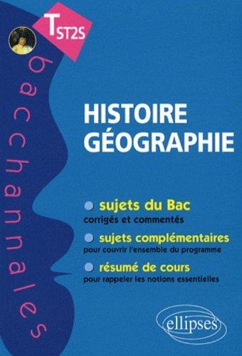 Histoire-géographie Terminale ST2S