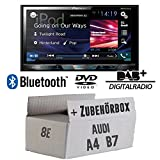 Audi A4 B7 - Pioneer AVH-X5800DAB - 2DIN Multimedia Autoradio inkl. DAB Antenne - Einbauset