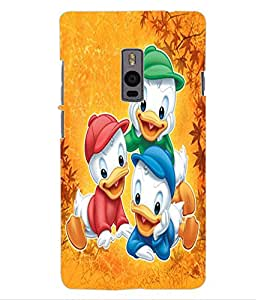 ColourCraft Lovely Cartoon Characters Design Back Case Cover for OnePlus Two