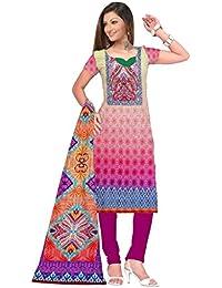BalajiWomen's Crepe Unstitched dress material(204-multicolor-free size)