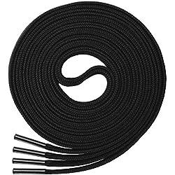 Cordones Planos Miscly [3 Pares] Para Todo Tipo de Zapatos y Zapatillas - Anchura 8 mm (69cm, Negro)