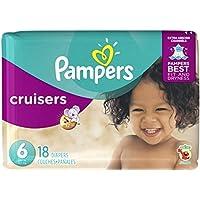 Pampers Couches Cruisers - 12 heures de protection contre les fuites - Trois façons d'ajuster - Pack de taille jumbo - Taille 6 - 20 couches/paquet ()