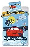 Cars Flash McQueen Baby-Bettwäsche, Bettbezug: 135x 100cm, Kopfkissenbezug: 40x 60cm, 100% Baumwolle