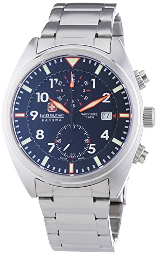 Swiss Military Hanowa Herren-Armbanduhr XL AIRBORNE Chrono Analog Quarz Edelstahl 06-5227.04.007