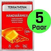 TerraTherm Calentadores de Manos, calienta Bolsillos para 12 Horas de Manos Calientes, Almohadillas térmicas activadas por Aire, 100% Calor Natural, calienta Manos, 5 Pares